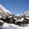 Snow Covered Cottages At Zermatt