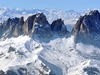 Snow Covered Mountain Ski Resort In Dolomites