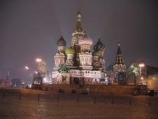 Sobor Vasilia Blagennogo Moskva Noch