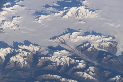 The Volcano Is Visible In The Upper Portion