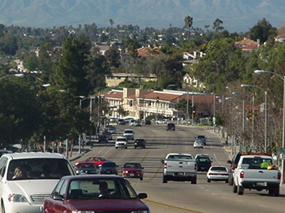 South Santa Fe Ave In The Southern Part Of Vista