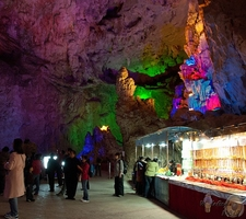 Stalls Inside Guilin Reed Flute Cave