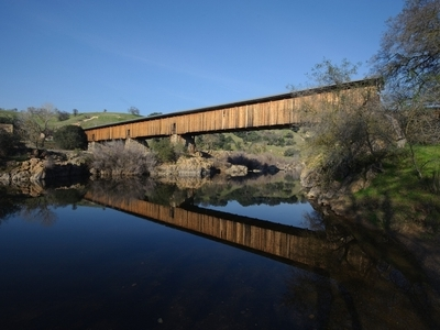 Knights Ferry Bridge On The Stanislaus River