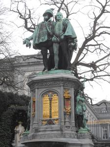 Statue At Square Du Petit Sablon