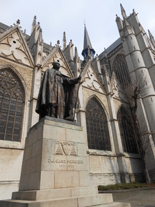 Statue At St Michael And Gudula Cathedral