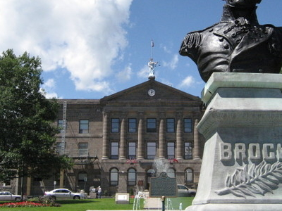 Statue Of General Isaac Brock Outside The Courthouse In Downtown