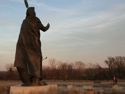 Statue Of  Standing  Bear Seen From  West