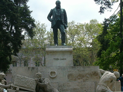 Statue Of Lajos Tisza In Szeged