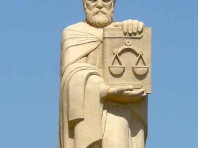 Statue Of Mkhitar Gosh In Aparan Alphabet Park