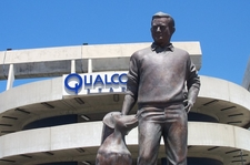 Statue Of Jack Murphy In Front Of The Stadium