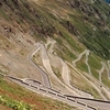 Some Of The 48 Hairpin Turns Of The Stelvio Pass
