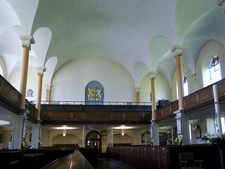 St Pauls Church Birmingham Inside West Wall