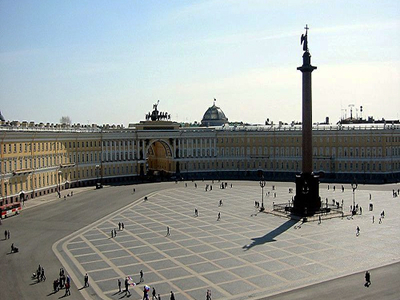 Palace Square With The Alexander Column