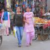 Strolling Shoppers At Paltan Bazaar