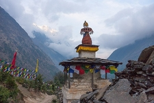 Stupa Along Manaslu Circuit Trek - Nepal Himalayas