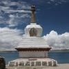 Stupa Along Namtso Shoreline