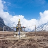 Stupa In Valley Along Manaslu Circuit - Nepal Himalayas