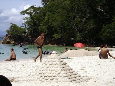 Sunbathers At Pulau Sapi