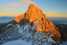 Sunrise And Lenticular Cloud Mount Kenya