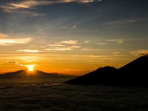 Sunrise Mount Batur Volcano Climbing Photos