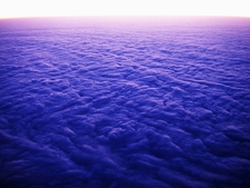 Sunrise Over Clouded Sea