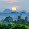Sunrise Over Sri Lankan Landscape