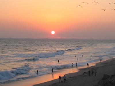 Sunset At  Huntington  Beach