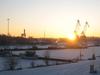 Sunset At The Port Of Rauma