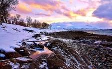 Sunset From Tromso South Beach