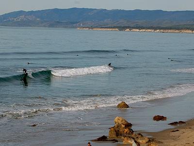 Surfers In Santa Barbara