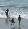 Surfing At Swami's Park Beach