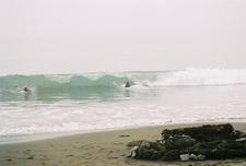 Surfing At Westport-Union Landing Beach