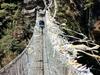 Suspension Bridge Over Dudh Kosi River In Sagarmatha NP Nepal