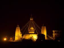 Swayambhunath At Night