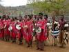 Swazis Dancing In Swaziland