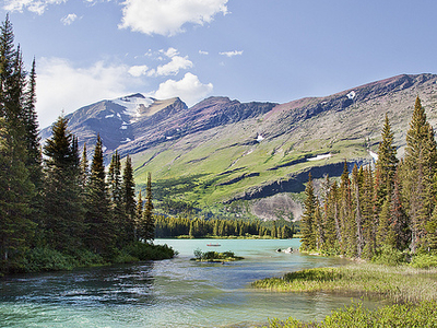 Swiftcurrent Mountain - Glacier - USA