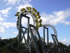 Tornado Amusement Ride In Sarkanniemi
