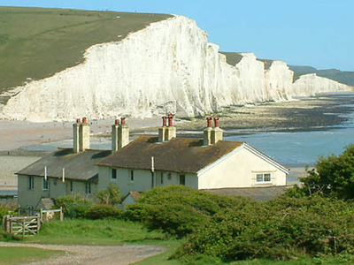 Seven Sisters Cliffs And The Coastguard Cottages