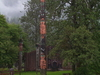 Totem Poles At The Shakes House