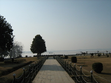 Garden With Dal Lake In Background