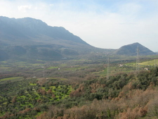 The Alburni Seen From The Sicignano Valley