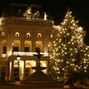 The Old Slovak National Theatre Building During Christmas Time