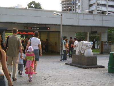 Somerset MRT Station Entrance
