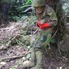 Soldier At Legaspi Japanese War Tunnel