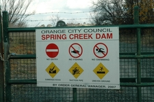 Spring Creek Reservoir Sign