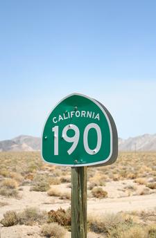 SR 190 Shield In Death Valley