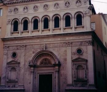 The Facade Of Santa Chiara