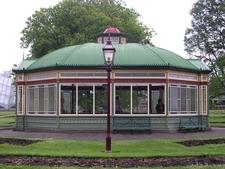 Statuary Pavilion In Ballarat Botanical Garden
