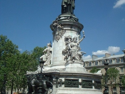 Monument At Place De La Republique