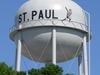 St. Paul Water Tower With Image Of Baseball Player
